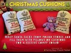 Christmas Activities For Kids - Christmas cushions