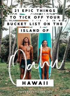 21 epic things to tick off your bucket list on the island of Oahu, Hawaii Makua Beach, North Shore Hawaii, Electric Beach, Waimea Bay, Beach Shack, Oahu Hawaii, Adventure Is Out There, Beach Fun, Fresh Fruit