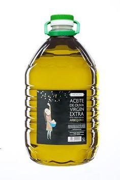 Nekeas arbequina oliba-olio extra. 5 litroko olio garrafa. // Aceite de oliva extra virgen arbequina Nekeas.1 garrafa de 5 litros.