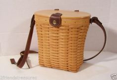 Longaberger Large Saddlebrook Purse Basket Country Estates Protector Woodcrafts