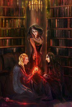 The Unbreakable Vow by Vizen Fanart Harry Potter, Arte Do Harry Potter, Harry Potter Artwork, Harry Potter Universal, Harry Potter World, Severus Rogue, Severus Snape, Ravenclaw, Hogwarts