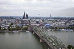 Vista aerea de la catedral de Köln