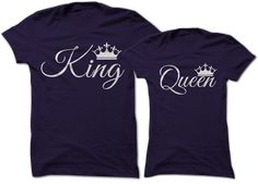 King and Queen Couple tees!