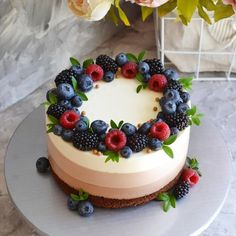 Pretty Birthday Cakes, Pretty Cakes, Cute Cakes, Yummy Cakes, Fancy Desserts, Delicious Desserts, Cake Recipes, Dessert Recipes, Dessert Decoration