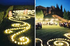 DIY candle display wedding ceremony reception glow once wed
