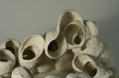 Nuala O'Donovan. Pinecone Series Porcelain, high-fired and unglazed.
