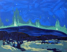 'Northern Lights' by Tom Thomson at Cowley Abbott Tom Thomson, Group Of Seven, Canadian Artists, Winter Scenes, Art Auction, Northern Lights, Opera, Toms, Art Gallery