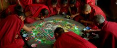 Youve probably never heard of a Mandala before, let alone a Sand Mandala. A Mandala is a spiritual and ritual symbol in both the Hindu and Buddhist religions. It is a beautiful, intricate geometric design thats meant represents the universe. Good Movies On Netflix, Good Movies To Watch, Walter Mitty, Wheel Of Life, Colored Sand, Film Director, Cinematography, Reiki, I Movie