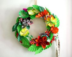 rouwkrans/origami wreath by suzettesuzette, via Flickr