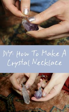 DIY: How To Make A Crystal Necklace - Wrapped Wire Technique   article: http://www.charlieandkaffy.com/2016/11/25/how-to-make-a-crystal-necklace/