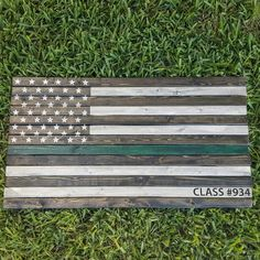 Just finished another custom American flag with green stripe for an LEO🍻 law enforcement discounts available!
