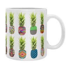 Bianca Green Pineapple Party Coffee Mug | DENY Designs Home Accessories