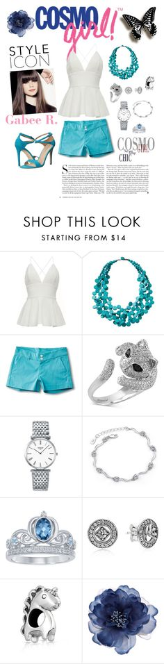 """""""CosmoGirl - Gabee R."""" by maddigrace-ccc ❤ liked on Polyvore featuring TravelSmith, Kavu, Effy Jewelry, Longines, Disney, Pandora, Bling Jewelry, Accessorize, Via Spiga and Kershaw"""