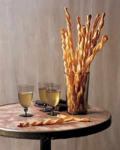I still like the idea of doing a table of veggies with some good crackers and break and these cheese straws.