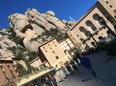 @whereispamring in front of the church atop Montserrat.  #Montserrat #Catalunya #Catalonia