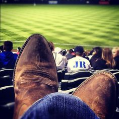 boots n baseball. yes <3