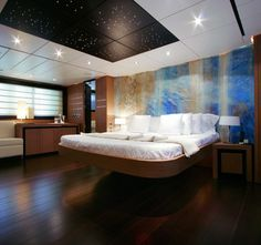 Nice... and all wrapped up in a in a little 115' Motor Yacht package!  Yikes. - Pershing 115' Yacht Master Bedroom