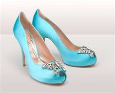 i always wanted to wear blue shoes for my wedding