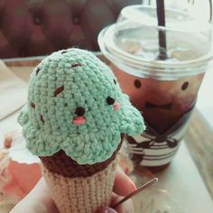 FINISHING THIS BAD BOY OFF. MINT CHOC CHIP  CHOCOLATE ICE CREAM.  I was trying to make a cupcake without a pattern and when i finished it it looked way too much like ice cream so just added a cone today! At least i could still turn it into something delicious!  #crochetcrafternoons #crochetmistakes #crochet #crafternoons #크로셰 #amigurumi #아미구루미 #icecream #아이스크림 #mintchocolatechip #chocolate #icecreamcone #coffeetime #아메리카노 #cute #kawaii #귀여워 #귀업다 #lowcarb #sundayfunday #일요일 #맛있다 # by…