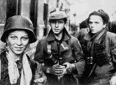 Young Polish resistance fighters in Warsaw Poland 2 September 1944.