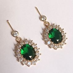 For the Emerald & Diamond Oval Earrings Oval Diamond, Emerald Diamond, Belly Button Rings, Drop Earrings, Kate Middleton, Jewelry, Jewlery, Jewerly, Schmuck