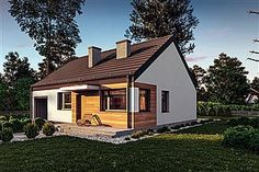 Projekt domu Murator C365f Przejrzysty - wariant VI Home Fashion, House Plans, Shed, Outdoor Structures, Cabin, House Styles, Home Decor, Blueprints For Homes, Lean To Shed