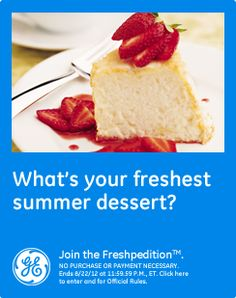 What's your freshest summer dessert? I love Strawberry Shortcake with fresh Strawberries and whipped Cream #GEfreshNH