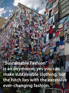 True sustainability -social and ecological- in fashion cannot be achieved without slowing down the continuous changing of trends. Promote slow fashion and choose long-lasting designs. Sustainable Clothing, Sustainable Design, Sustainable Fashion, Sustainable Products, Sustainable Textiles, Ethical Clothing, Ethical Fashion, Fast Fashion, Slow Fashion