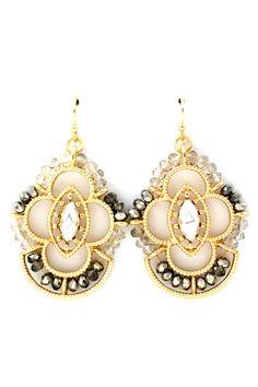 Black Diamond Ombre Charlotte Earrings on Emma Stine Limited