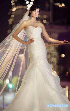 chiffon wedding dress #wedding gown