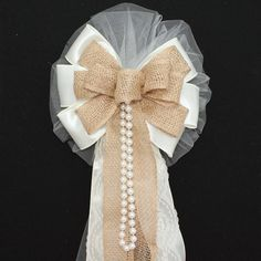 pew bows for wedding diy - Google Search