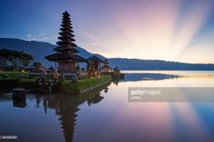 Pura Ulun Danu Bratan, or Pura Bratan, is a major Shivaite and water temple on Bali, Indonesia. The temple complex is located on the shores of Lake Bratan in the mountains near Bedugul. Water temples serve the entire region in the outflow area; downstream there are many smaller water temples that are specific to each irrigation association (subak).