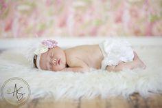 Newborn girl portrait