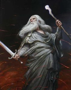 'You Cannot Pass!' by Donato Giancola ~ LOTR ~ Gandalf's command to the Balrog