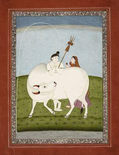Pahari style, 19th century Shiva as Gangadhara (Bearer of the Ganges)  c.1830.