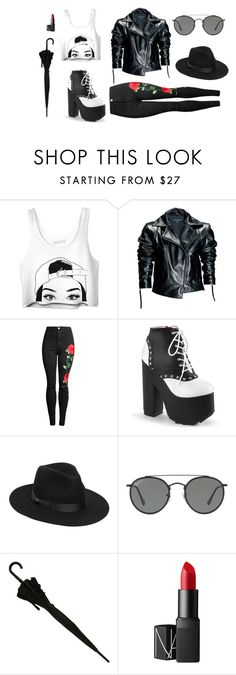 """""""Untitled #548"""" by taggedbykimmie15 on Polyvore featuring Leka, Lack of Color, Ray-Ban and NARS Cosmetics"""