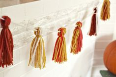 Yarn Tassel Garland for front of table