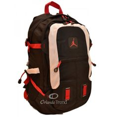 Nike Air Jordan 15 inch Laptop Backpack with Shoe Compartment in Red, White and Black at OrlandoTrend.com #orlandotrend