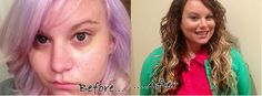 Before Extensions & Color | After Extensions & Color