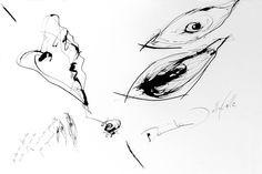 DARTGR0815063 #eyes #heart #black #ink #danieladallavalle #art #conceptualart #abstractart #minimal