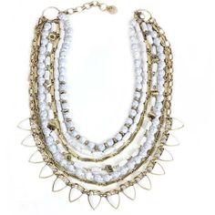 white gypsy multi long fringe tassel body layered bronze chain string necklace