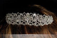 Vintage Victorian Foral Swarovski Crystal by BelovedSparkles