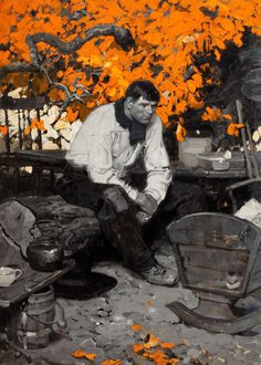 andreasung • leadpencil: Dean Cornwell Love the splash of color and the juicy paint.