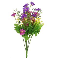 1 Bunch of Cineraria Artificial Flower Bouquet Home Office Decor (Fuchsia and Purple): Amazon.co.uk: Garden & Outdoors