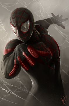 I'm not sure which guy became the Spiderman after Peter Parker died. May have been this guy, called the Ultimate Spider-Man, the first black Spider-Man, Miles Morales. Marvel Comics, Bd Comics, Marvel Heroes, Spiderman Marvel, Black Spiderman, Spiderman Suits, Spiderman Costume, Spiderman Spider, Comic Book Characters