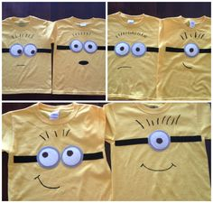 DIY Minion Shirts - my minion loving kids would be in heaven.