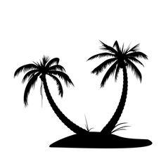 free silhoutte christmas patterns | Palmtree Island Silhouette Vector | DragonArtz Designs
