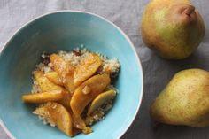 Vanillebirne auf Quinoa-Frühstück Food Inspiration, Potatoes, Vegetables, Desserts, Vanilla, Quinoa Breakfast, Pear, Food Food, Postres