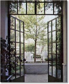 Cast iron glass door