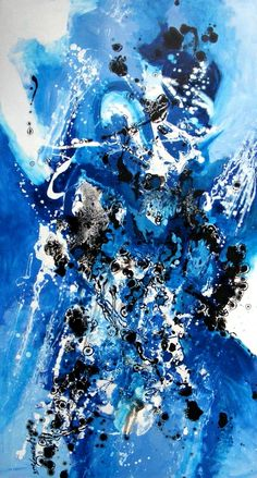 oil on canvas size 130cmx70cm dripping technique signed E.Bissinger 2013   It requires no frame. Certificate of Authenticity.